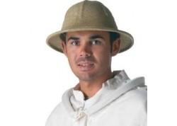 Chapeau colonial en corde tressée