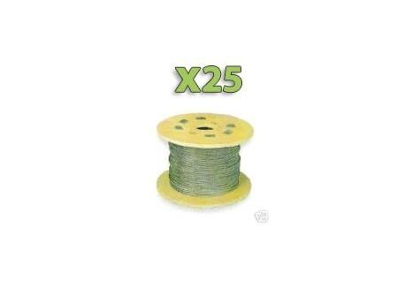 x25m Câble GALVA 2mm pour filet, Premier prix!