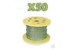 x50m Câble GALVA 2mm pour filet, Premier prix!