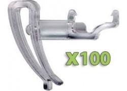 100x Clips Gouttière adaptable sur NUISIPIC1 et 2
