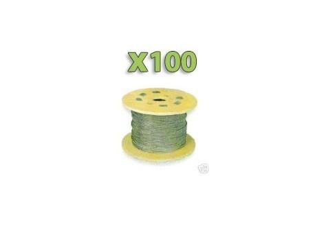 x100m Câble GALVA 2mm pour filet, Premier prix!