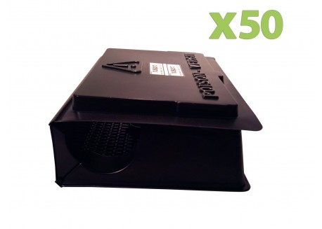 x50 Postes d'Appatages Rat en PVC