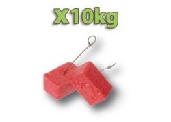 x10kg Raticide blocs égouts avec crochet de fixation!