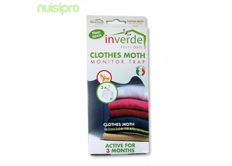 3 Pièges professionnel NUISIPRO, contre les mites des vêtements