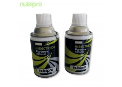 2 recharges pyrèthre naturel 250ml, puissant anti mouches, moucherons, mites