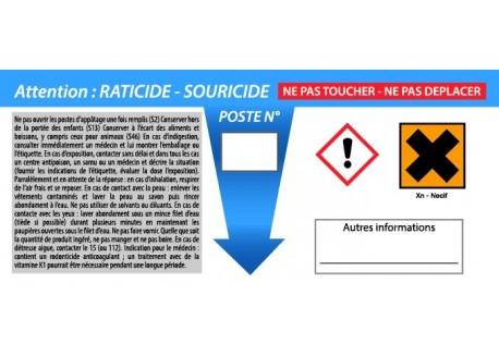 Etiquette HACCP pour poste Rat et Souris!