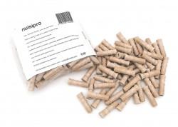 x100 Injecteurs bois - Diamètre 9.5mm - Couleur beige