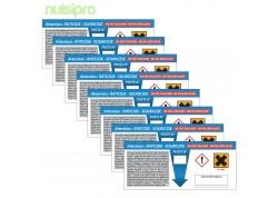Etiquettes réglementaires (Signalisation postes appât) x8